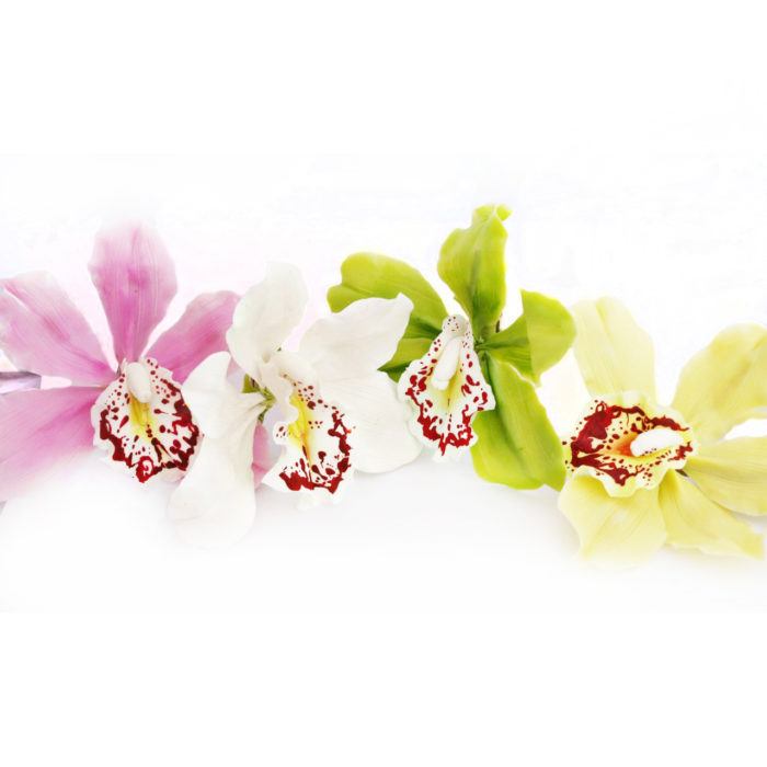 Artificial Cymbidium Orchid Hair Clip