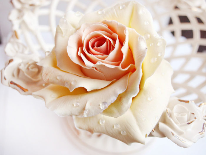 Ivory Rose Hair Pin 1