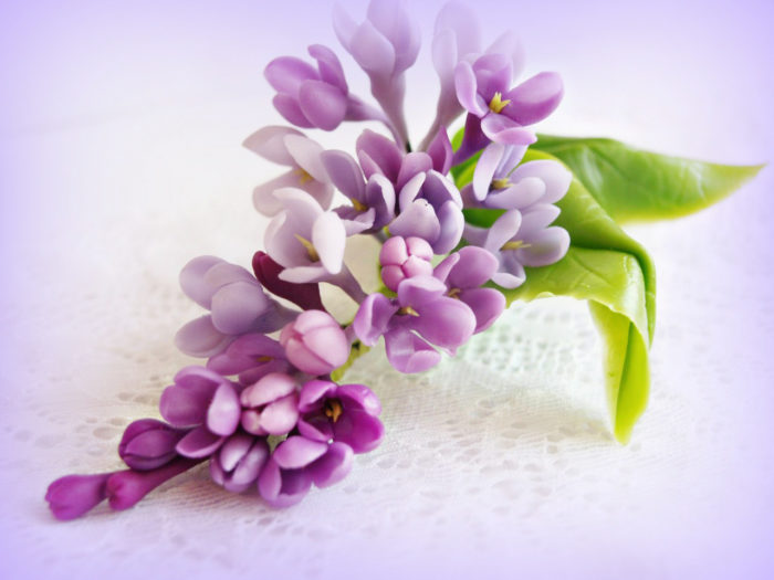 Lilac Flower Hair Accessories