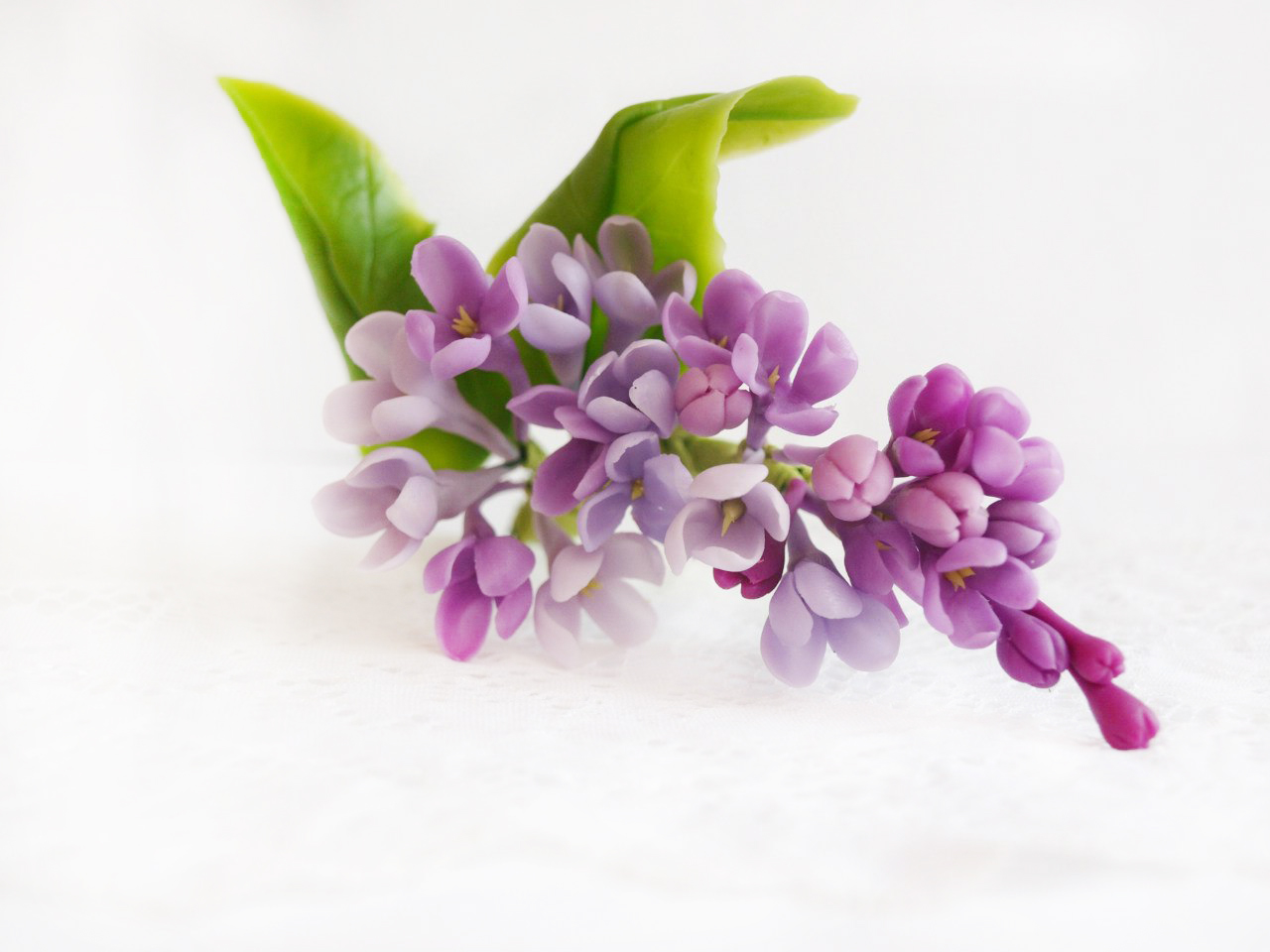 Lilac Flower Hair Accessories Handmade Flowers Oriflowers