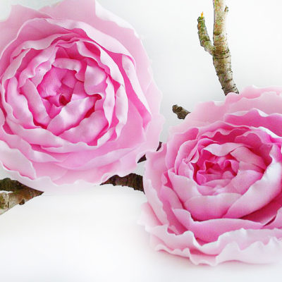 Pink flower hair pins handmade flowers oriflowers pink flower hair pins mightylinksfo