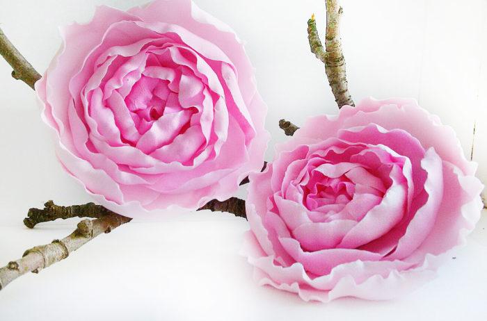 Pink Flower Hair Pins 1