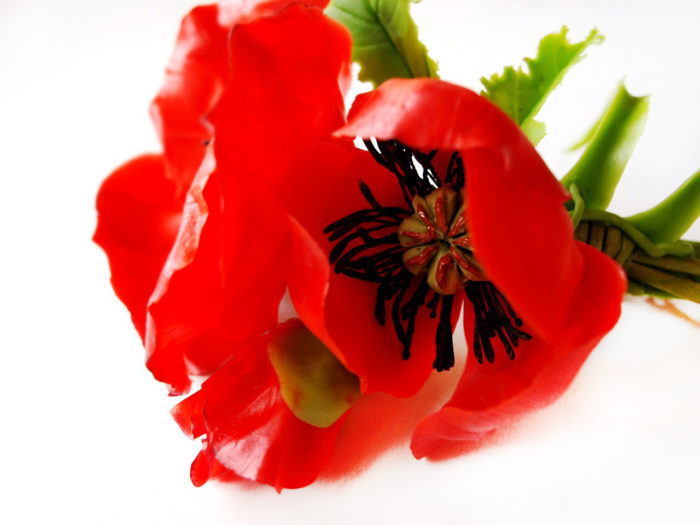 Red Poppy Hair Clip 2