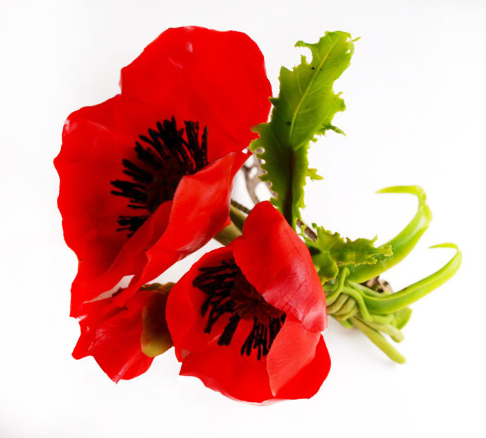 Red Poppy Hair Clip 3