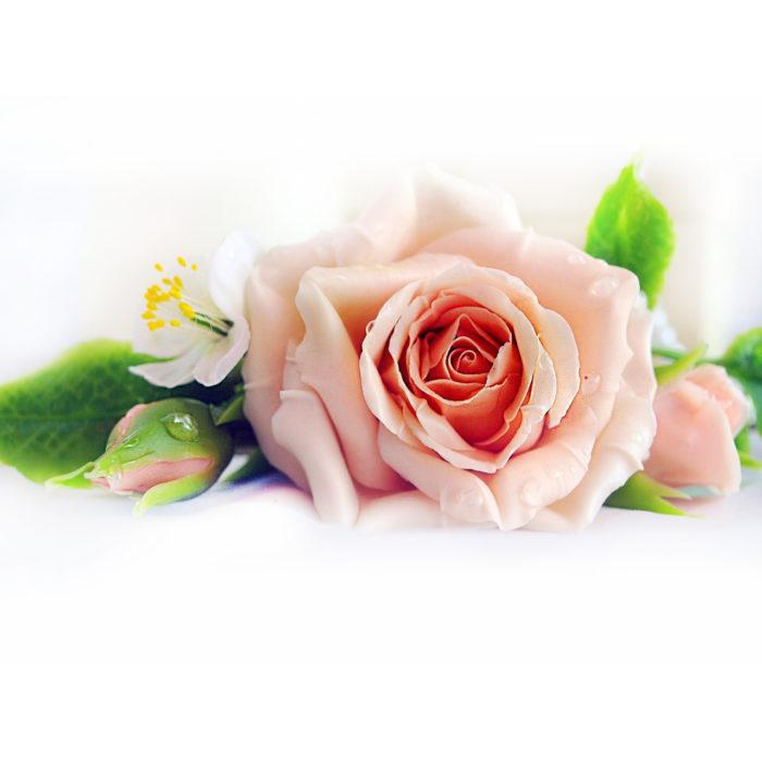 Rose Hair Clip Bridal