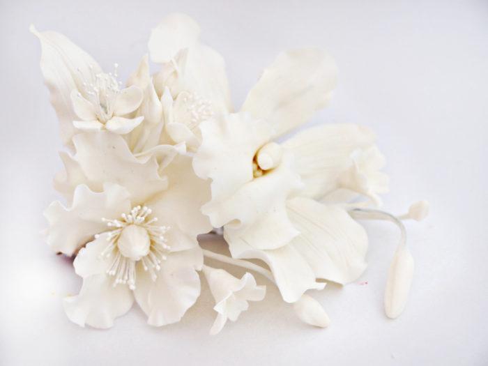 White Flower Hair Clip 1