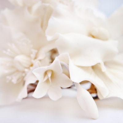 White flower hair clip handmade artificial flowers oriflowers white flower hair clip mightylinksfo