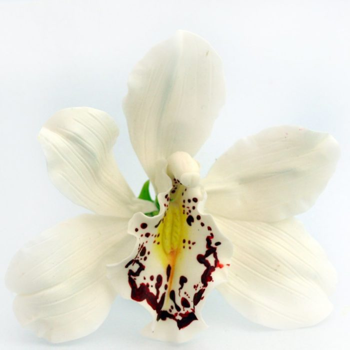 White Orchid Hair Flower 1