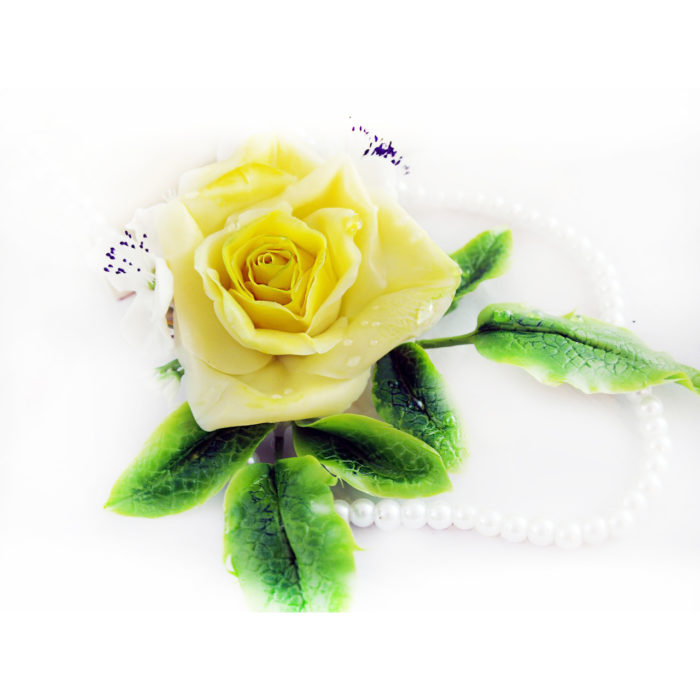 Yellow Rose Hair Piece 4