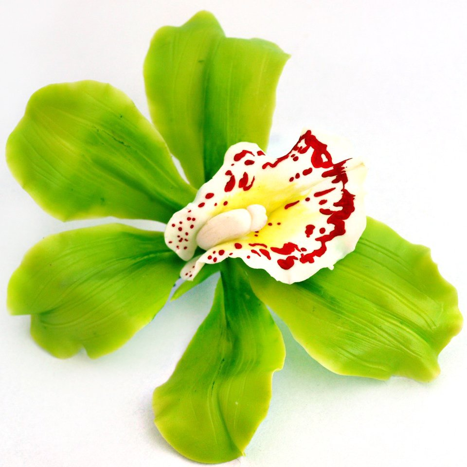 Cymbidium Orchid Flower Hair Clip Artificial Flowers Oriflowers