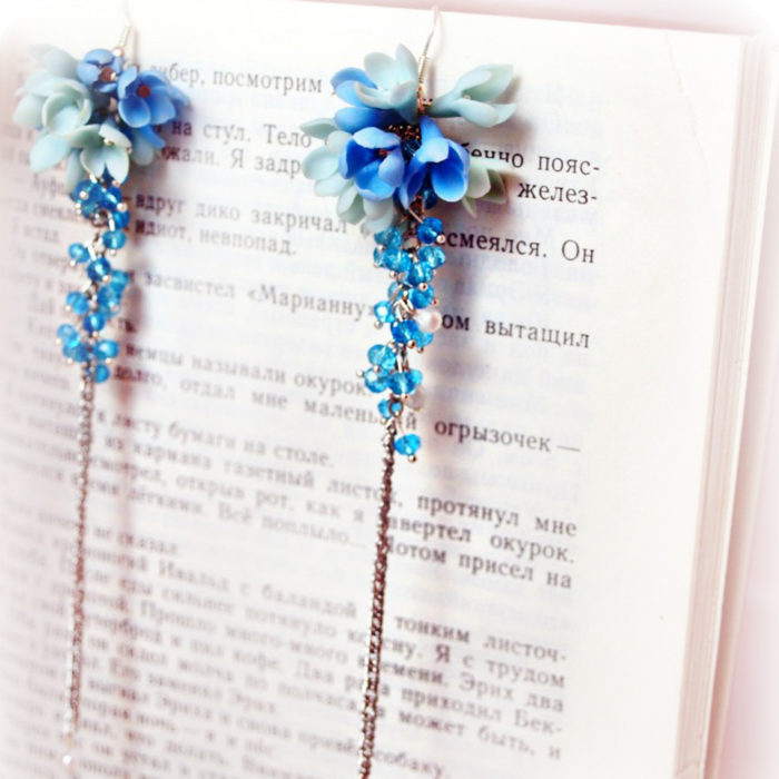 Forget Me Not Flower Dangle Earrings