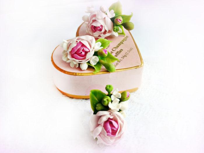 Peony Flower Earrings 2