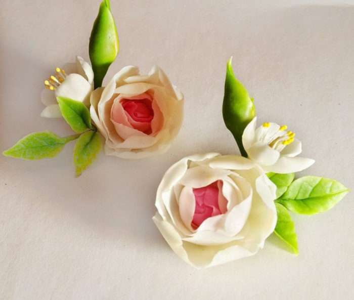 Ranunculus Flower Earrings