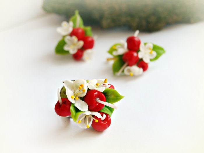 Cherry Jewelry Set 4