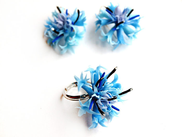 Cornflower Jewelry Set