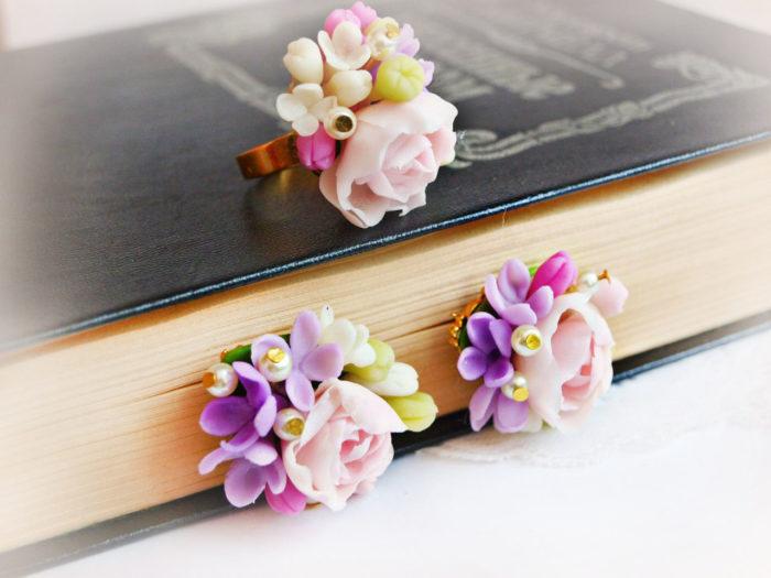 Tiny Flower Jewelry Set 2