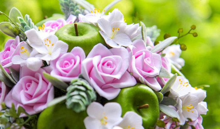 Apple Blossom Wedding Bouquet 3   Oriflowers