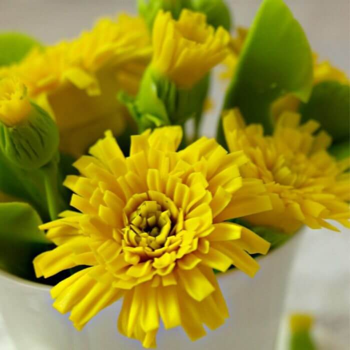 Artificial Dandelion Flowers in Cup 1 | Oriflowers