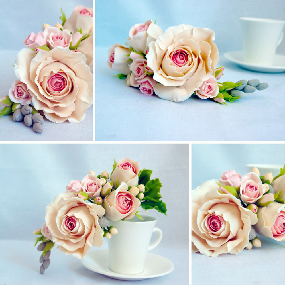 Artificial Flower Cake Topper - Handmade With Love ...