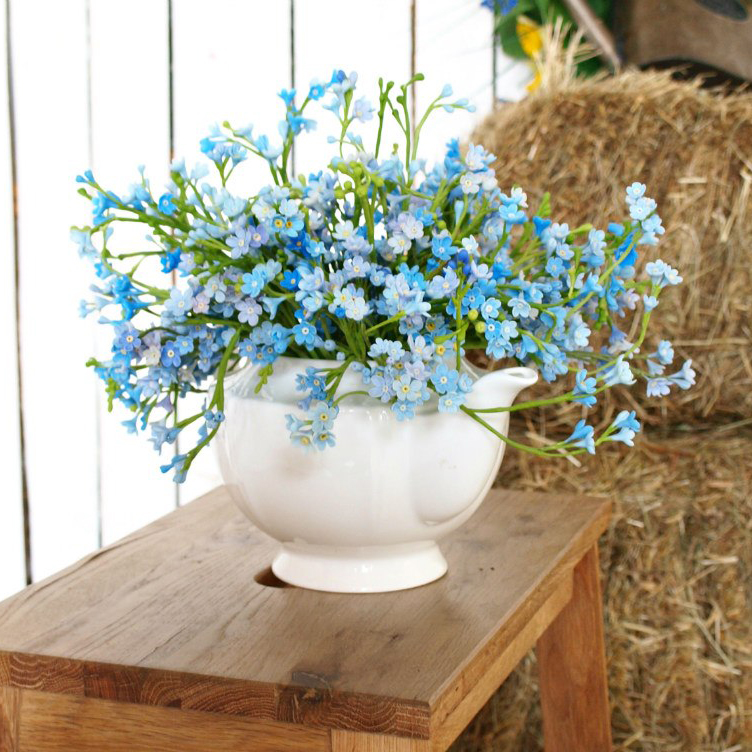 Artificial Forget Me Not Flowers Handmade With Love
