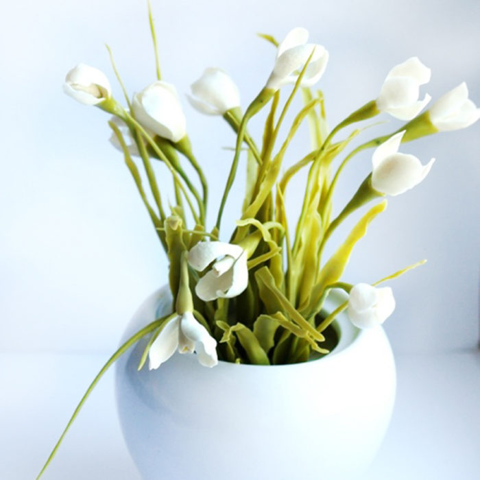 Artificial Snowdrop Arrangement | Oriflowers