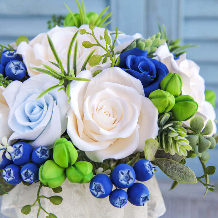 Blue And White Bridal Bouquet 4 | Oriflowers