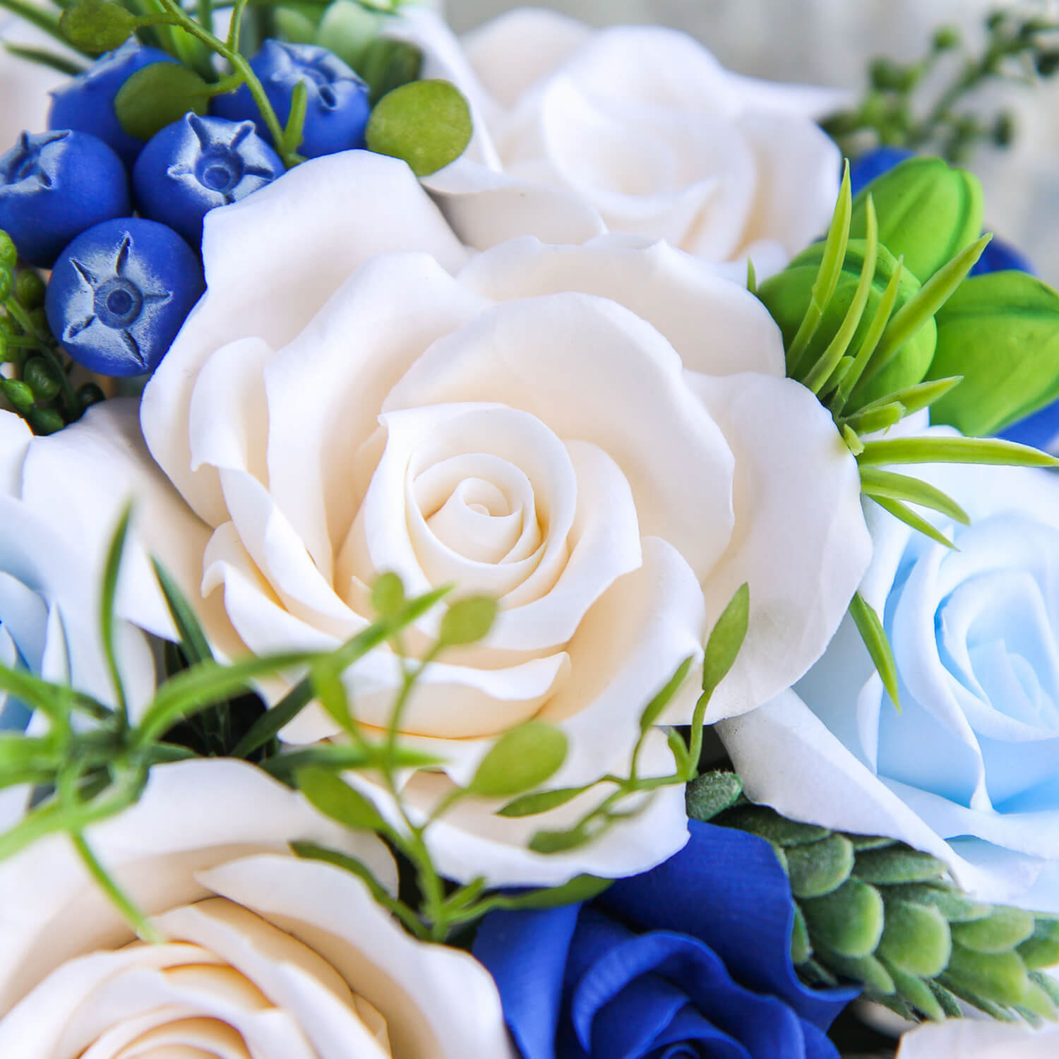 Blue and white bridal bouquet handmade with love oriflowers blue and white bridal bouquet 5 oriflowers izmirmasajfo
