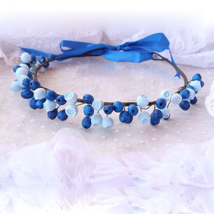 Blue Flower Crown 1 | Oriflowers