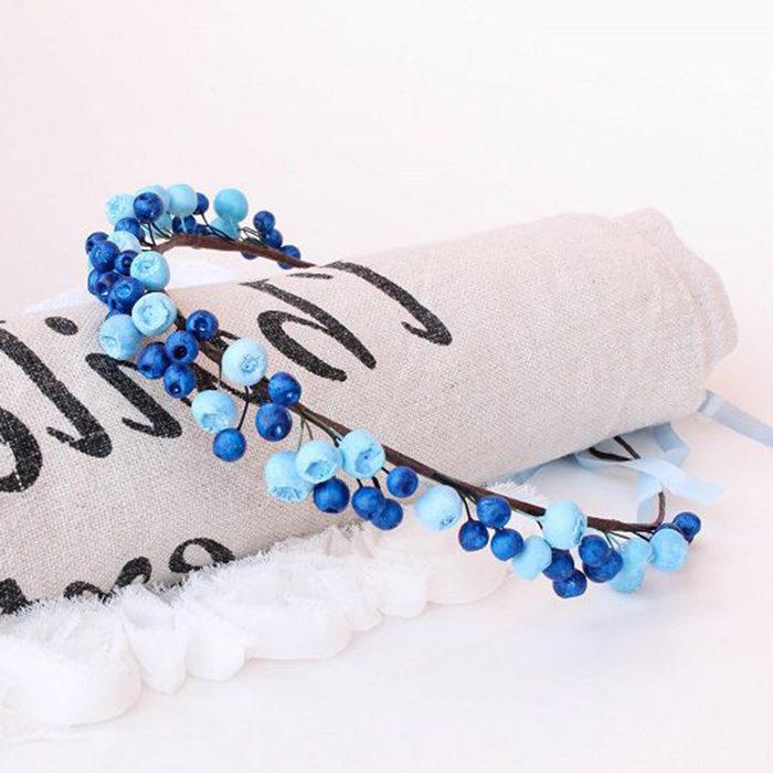 Blue Flower Crown   Oriflowers