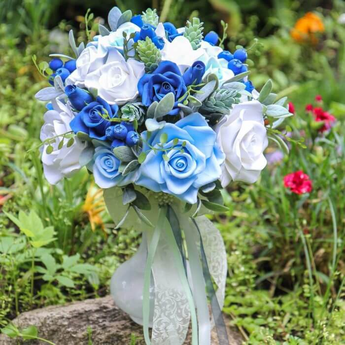Blue Roses Wedding Bouquet 1 | Oriflowers