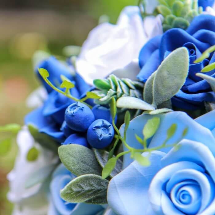 Blue Roses Wedding Bouquet 2 | Oriflowers