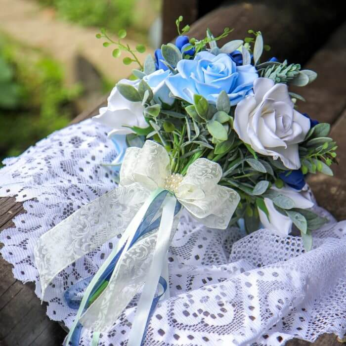 Blue Roses Wedding Bouquet 5 | Oriflowers