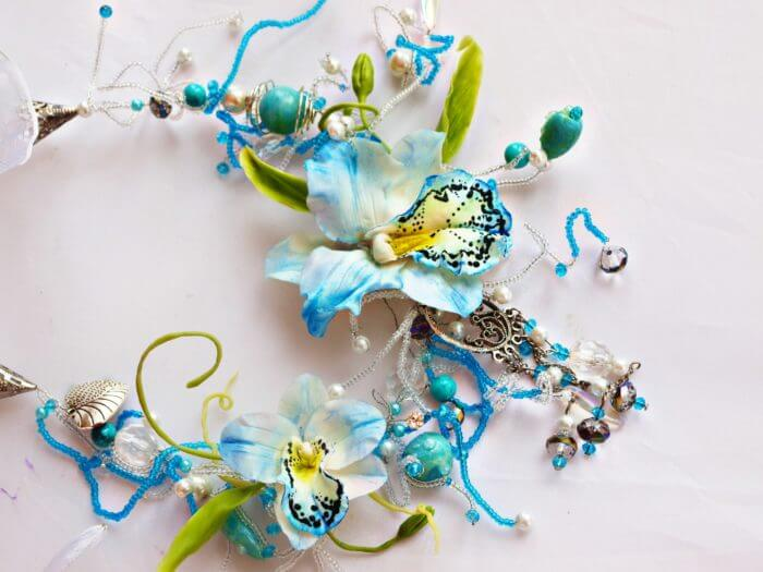 Blue Statement Necklace 1 | Oriflowers