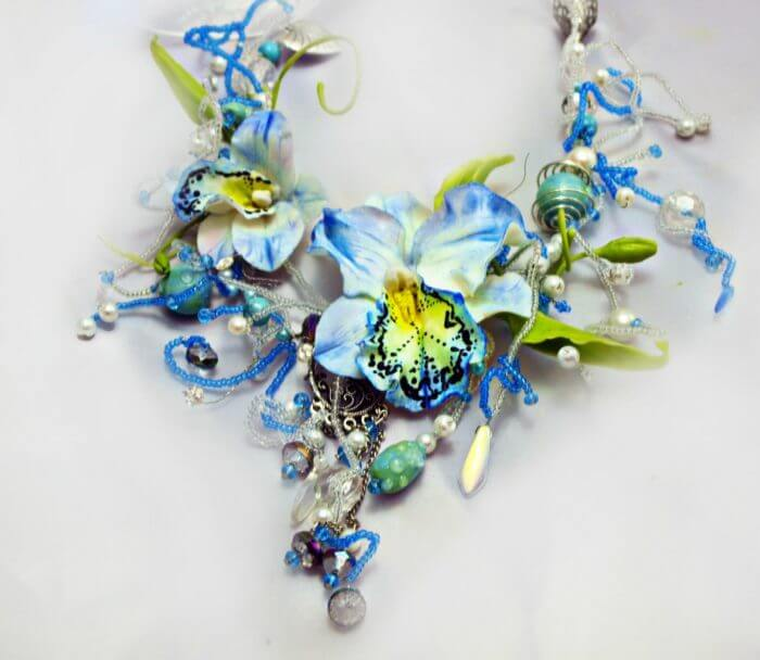 Blue Statement Necklace 3 | Oriflowers