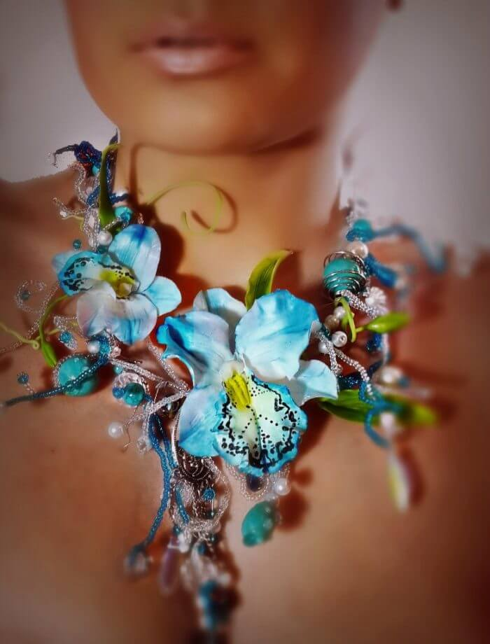 Blue Statement Necklace 4 | Oriflowers
