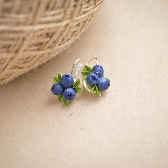 Blueberry Earrings 1 | Oriflowers
