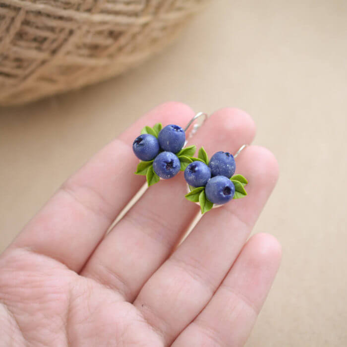 Blueberry Earrings 3 | Oriflowers