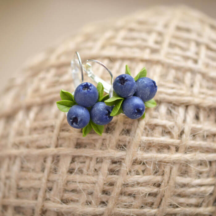 Blueberry Earrings 4 | Oriflowers