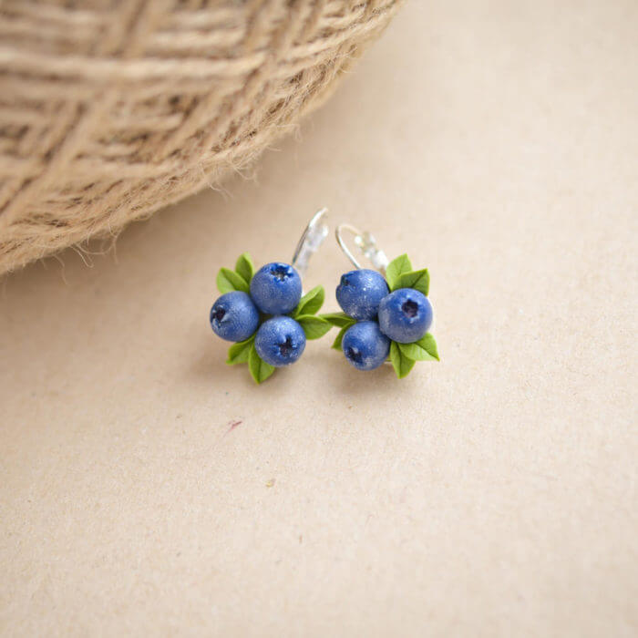 Blueberry Earrings | Oriflowers