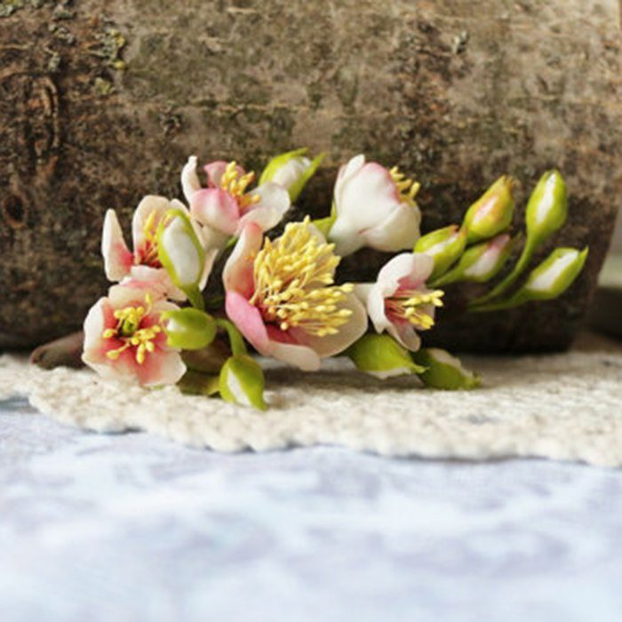 Boutonniere with a Cherry Blossom - Wedding Accessories | Oriflowers