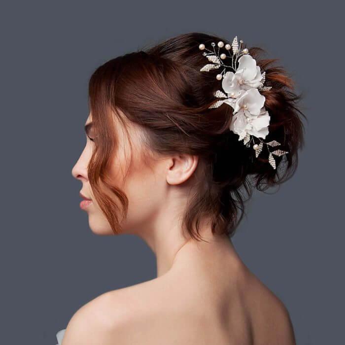 Bridal Flower Hair Vine | Oriflowers