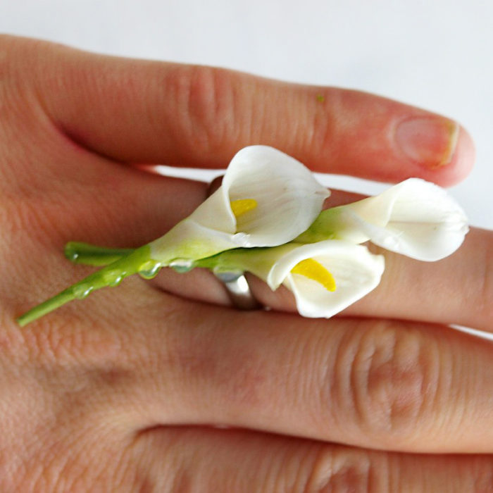 Calla Lily Ring 2 | Oriflowers