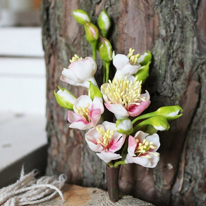 Cherry Blossom Boutonniere - Wedding Accessories | Oriflowers
