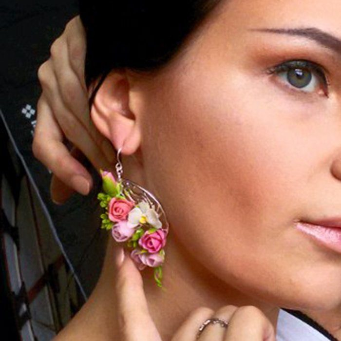 Earrings with tiny flowers | Oriflowers