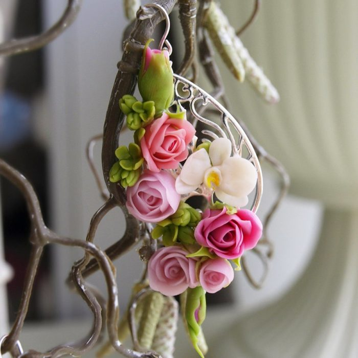 Earrings with tiny flowers Fashion Jewelry | Oriflowers