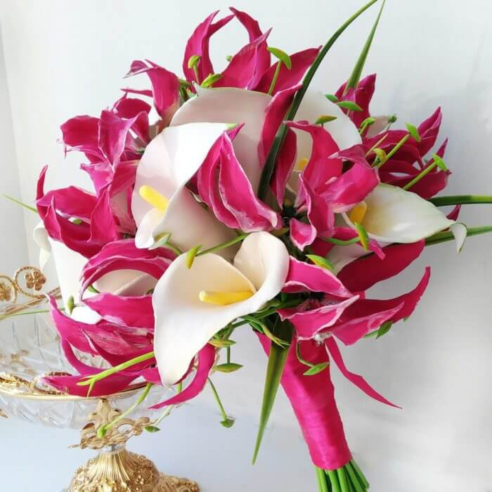 Flame And Calla Lily Bridal Bouquet 1 | Oriflowers