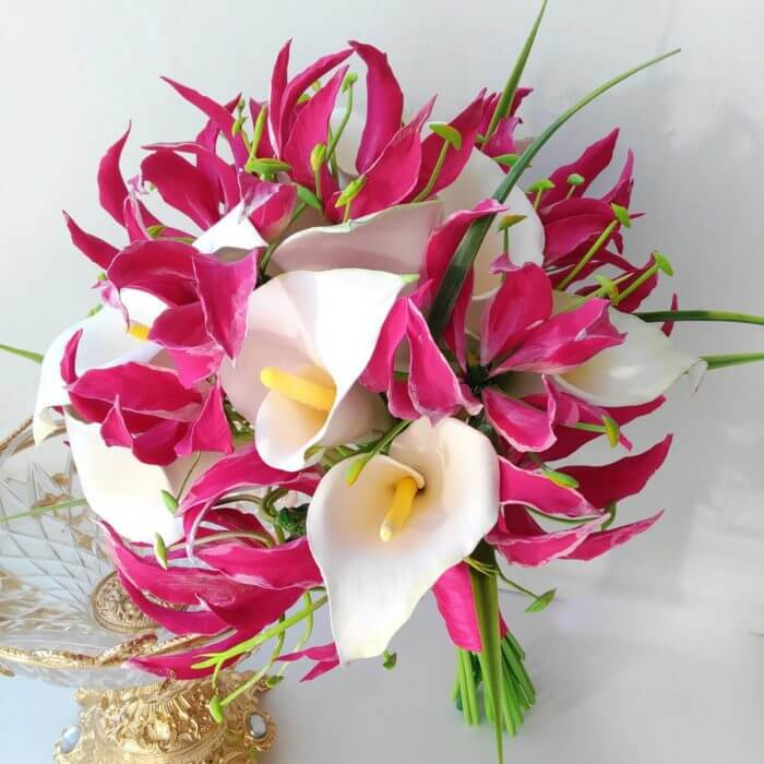 Flame And Calla Lily Bridal Bouquet 2 | Oriflowers