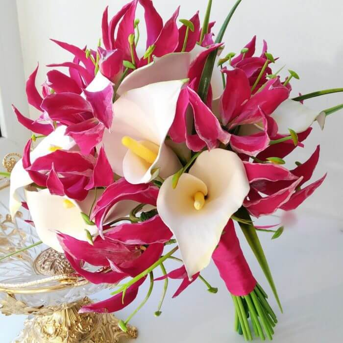 Flame And Calla Lily Bridal Bouquet 3 | Oriflowers