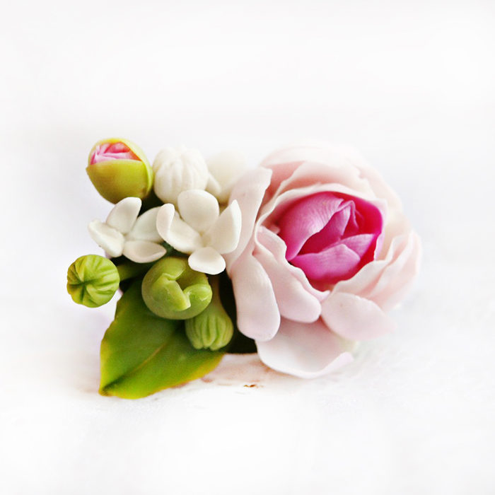 Floral Ring With Peony Flowers | Oriflowers