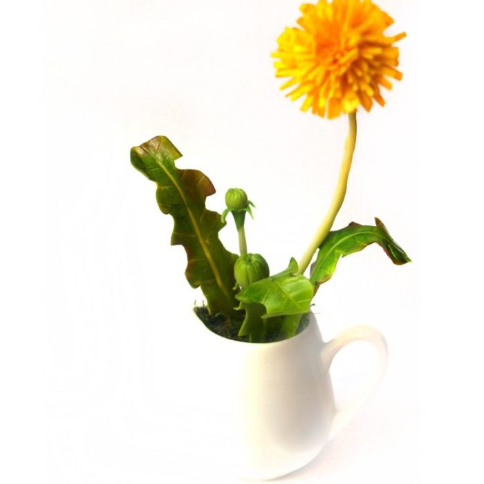 Flower Decoration Artificial Dandelion in Milk Jug | Oriflowers